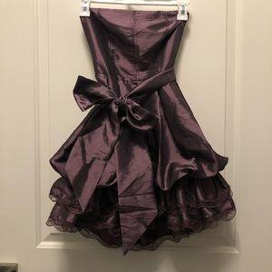 XX1 Purple Bubble Lace Party Prom Strapless Dress